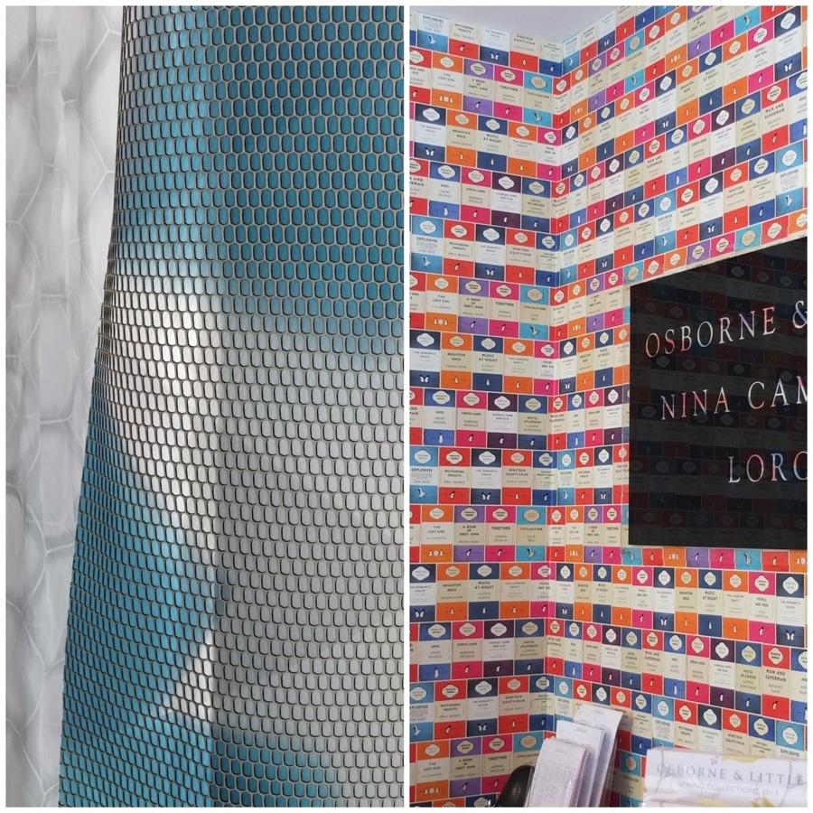Gitternetz von Kinnasand | Wenn der Kindle das Bücherregal ersetzt - Pinguin Library Tapete von Osborne & Little Bilder: Michael Sarreiter