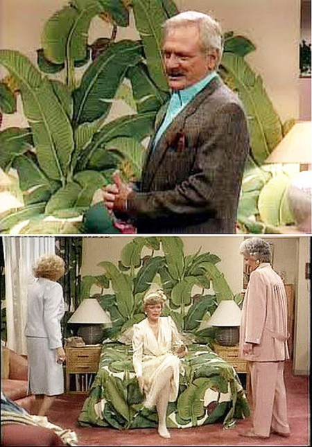 "Blanches Tropical Bedroom - Set Design der NBC- Serie ""Golden Girls"" Bilder: Filmszenen ""Golden Girls"" (NBC)"