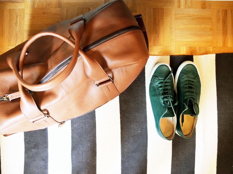 Reisetasche von Marco O' Polo | Schuhe von Fillipa K